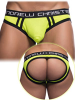 Andrew Christian - Air Mesh Jock mit Almost Naked - Gelb