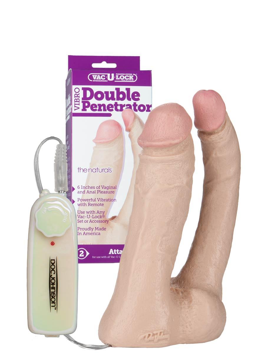 Vac-U-Lock - Natural Double Penetrator Vibro