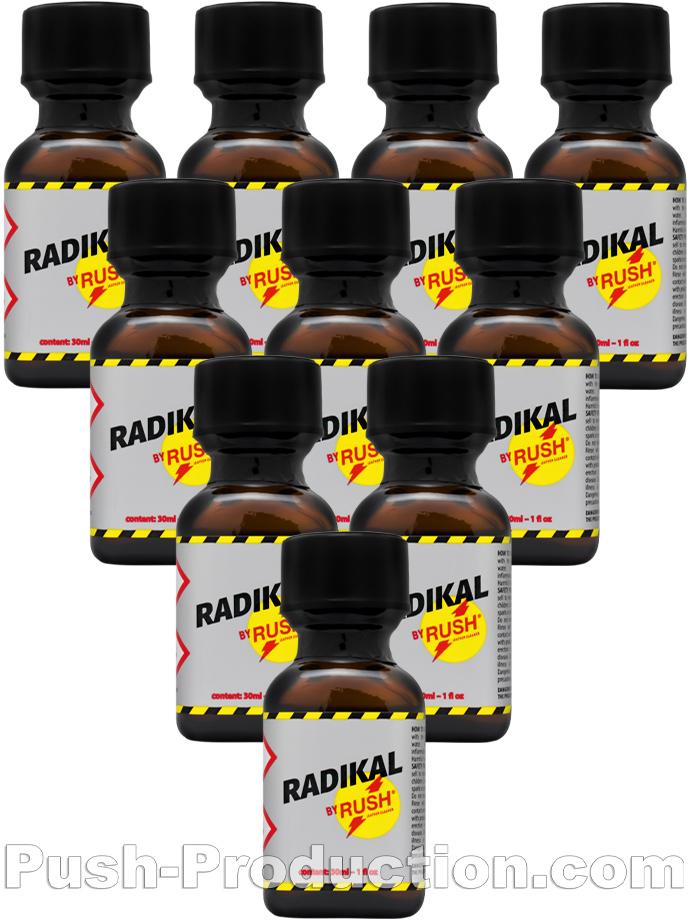 10 x RADIKAL RUSH big square bottle - PACK