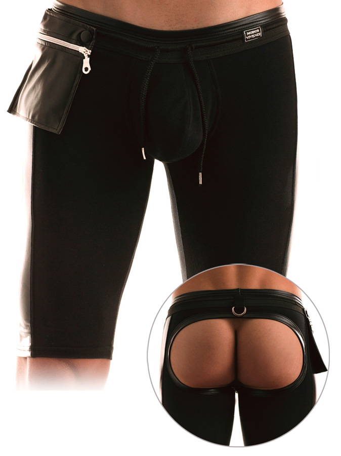 Modus Vivendi - Latex Short Bottomless Collant Schwarz