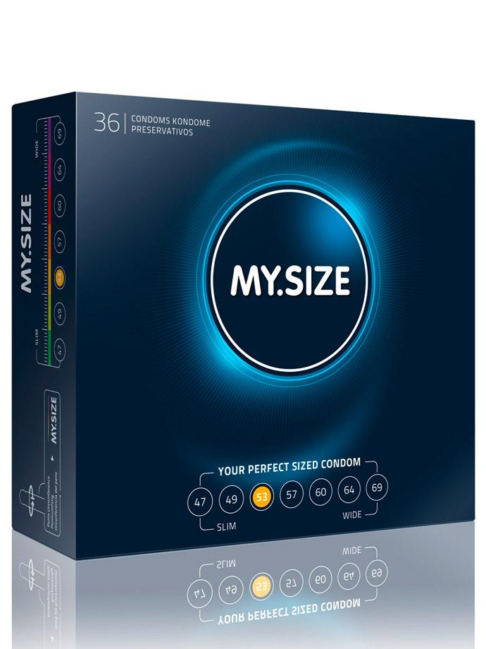 36 Stück MY.SIZE Kondome - Größe 53