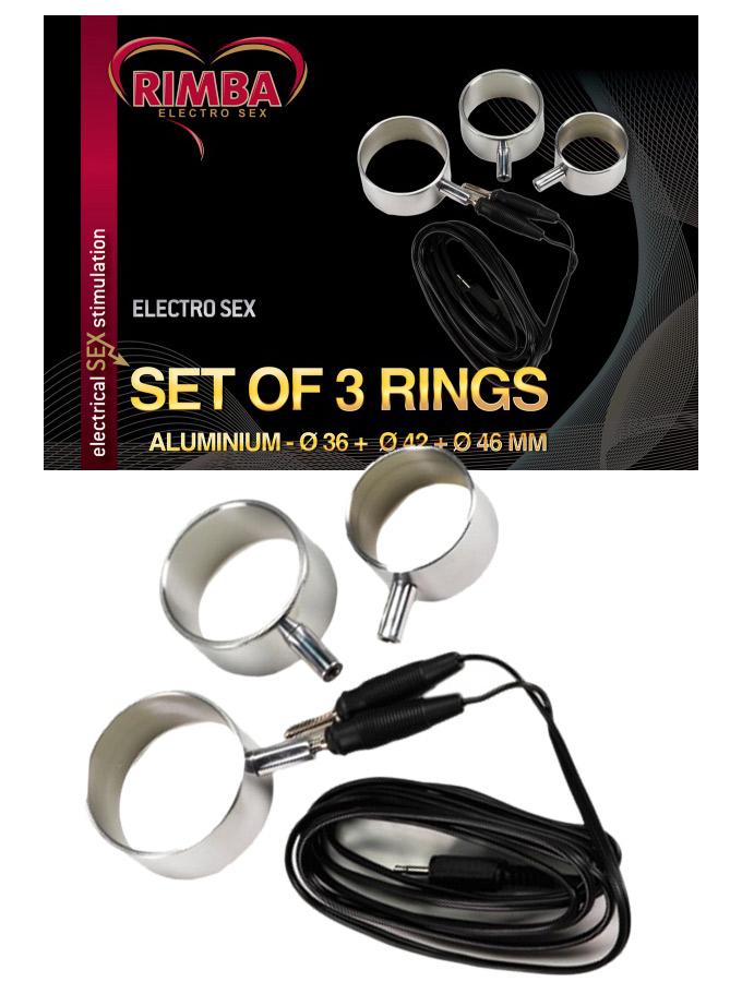 Elektro Sex Aluminium Cockringe