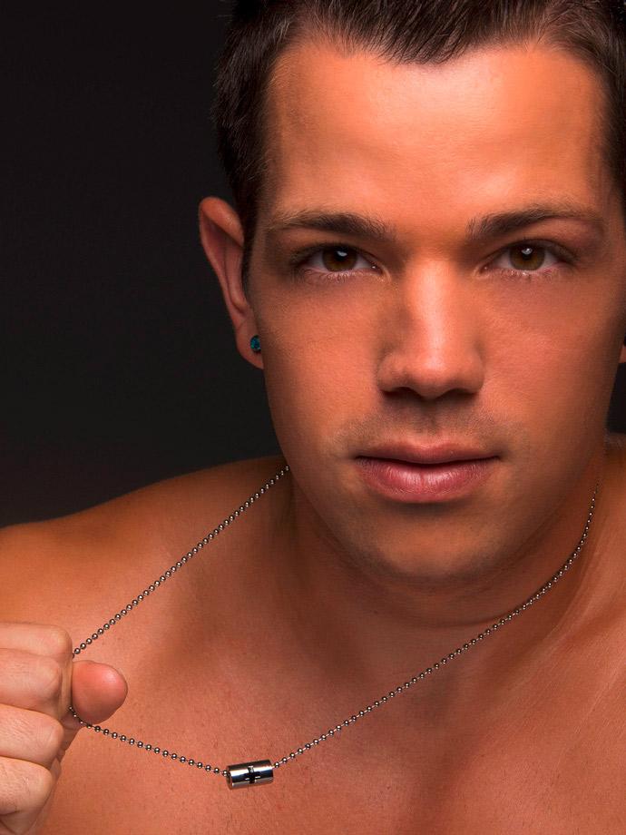 Andrew Christian - Cross Barrel Designer Necklace Silver