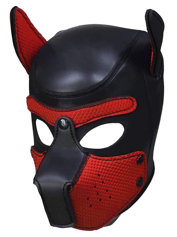 Pupplay Hundemaske - Schwarz/Rot