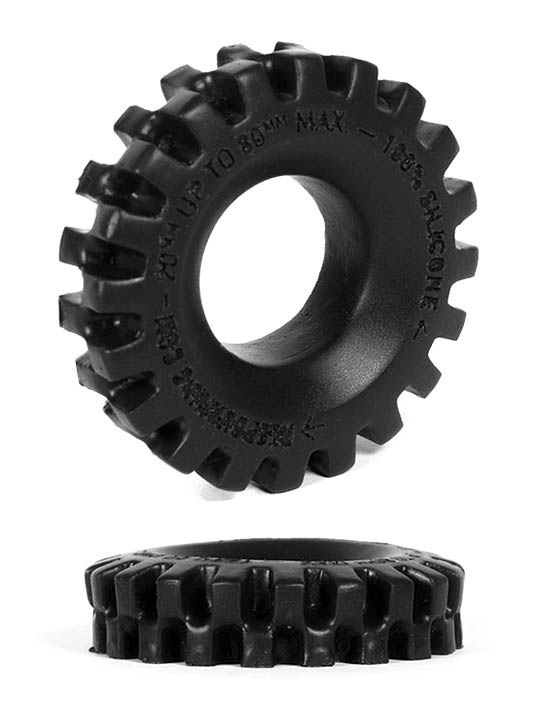 Burning Wheels 100% Silikon Cockring CK05 Schwarz