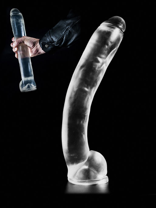Dark Crystal Clear Large Dildo DCC09