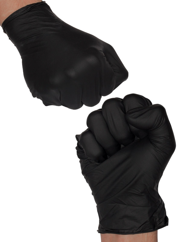 10 Stück Latex Handschuhe schwarz