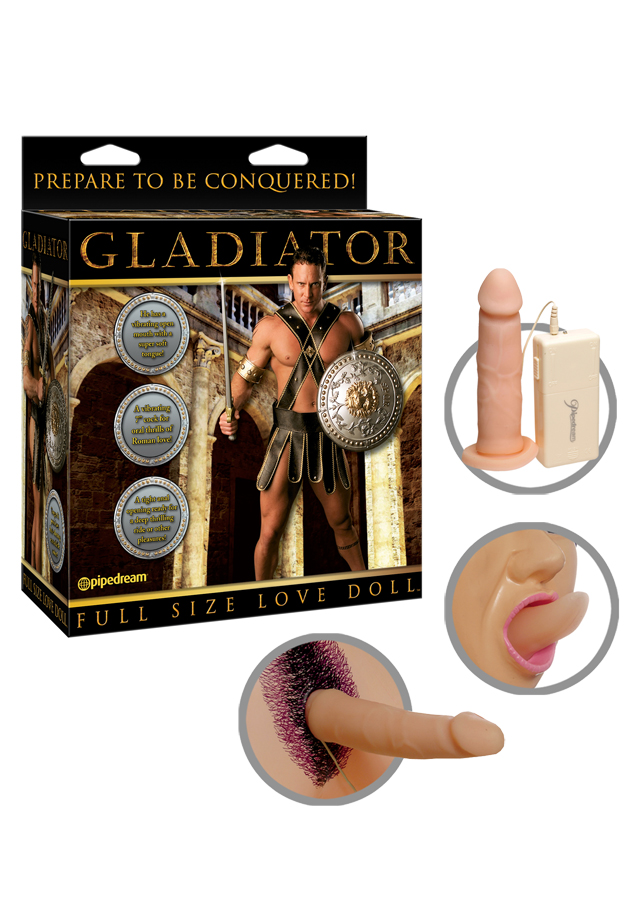 Gladiator Vibrating Doll