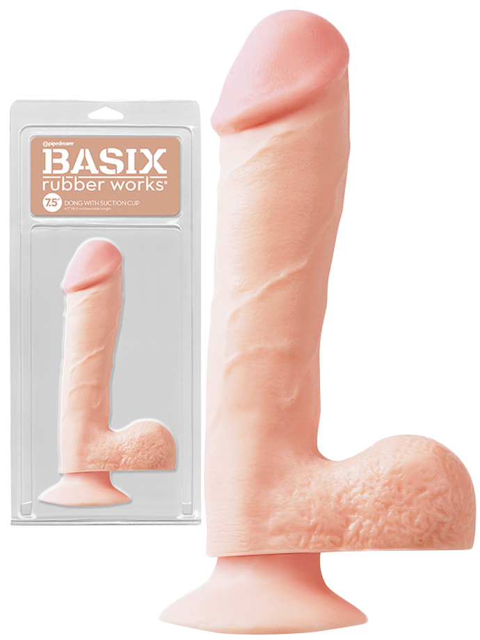 Basix Fat 7.5 inch Dong Flesh with Suction Cup and Balls