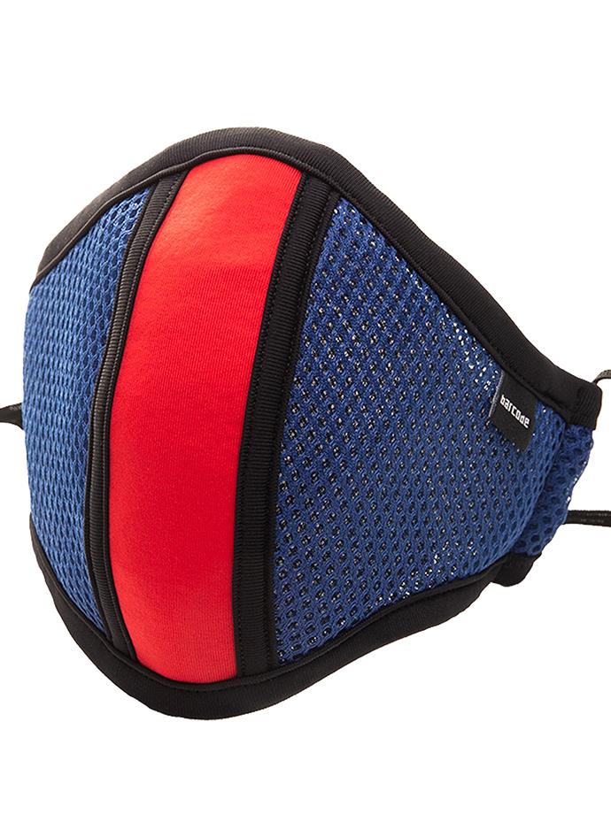 Barcode Berlin - Schutzmaske mit Filter - Blau/Rot