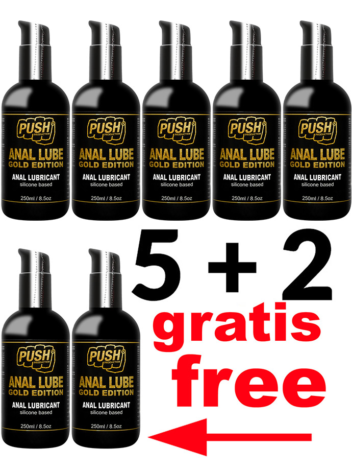 5 + 2 PUSH Anal Lube Silikon Gold Edition 250 ml