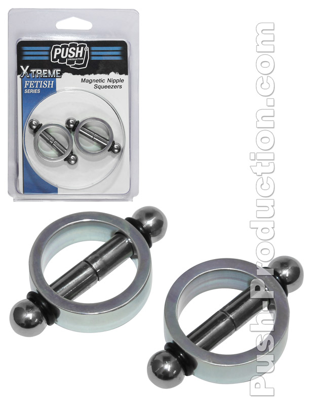 Push Xtreme Fetish - Magnetic Nipple Squeezers