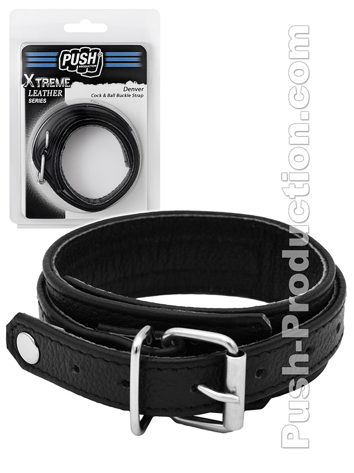 Push Xtreme Leather - Denver Cock & Ball Buckle Strap