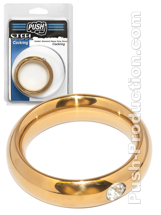 Push Steel - Golden Diamond Heavy Duty Donut Cockring