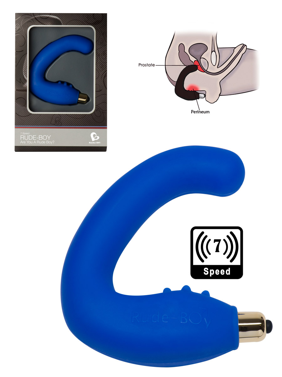 7 Speed Rude Boy Prostata Massager - blau