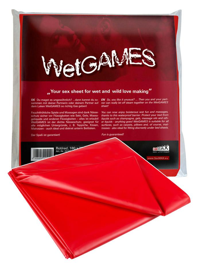 WetGAMES Sex-Laken - Rot 180x220 cm