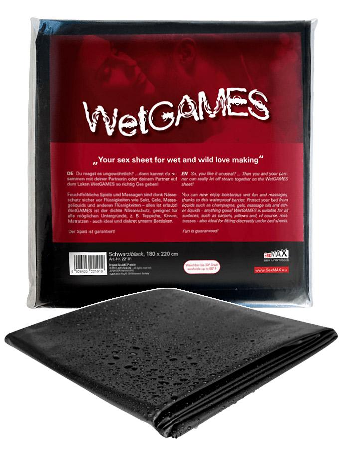 WetGAMES Sex-Laken - Schwarz 180x220 cm