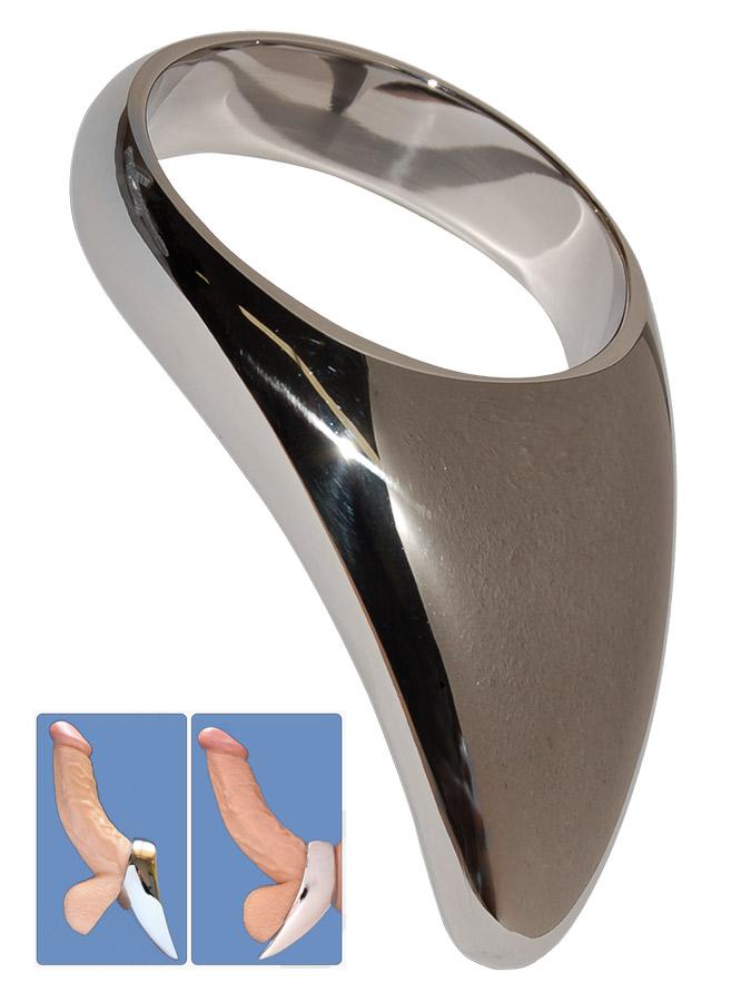 Edelstahl Teardrop Cock Ring - 50mm