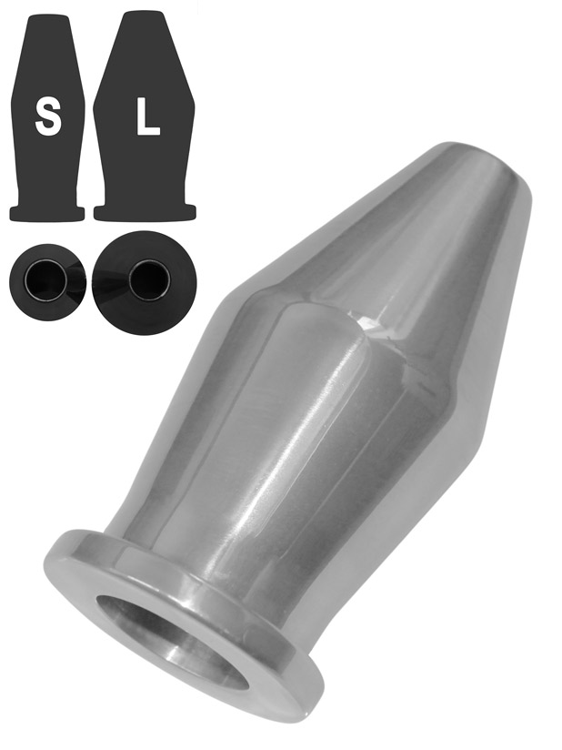 Aluminium Tunnel Buttplug - Large